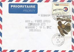 Centrafrique RCA CAR 1998 Bangui Sica Chuck-wills-widow Bird Caprimulgus Carolinensis Audubon EMS 405f Cover - Centraal-Afrikaanse Republiek