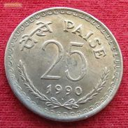 India 25 Paise 1990 B KM# 49.5  Inde Indie - India