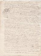 Cachet Généralité Limoges 11/1/1736 Dix Deniers - Haute Vienne Marquis De Magnac - Arnac St Sulpice St Germain - Manuscripts