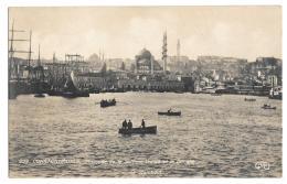 CPA..  TURQUIE...CARTE PHOTO..CONSTANTINOPLE..LA DOUANE..MOSQUEEDELA SULTANE VALIDE.... TBE...SCAN..PAS COURANTE... - Turkey