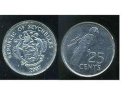 SEYCHELLES - REPUBLIC OF SEYCHELLES - 25 CENTS (2007) - Seychelles