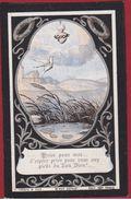 Karolus Van Bockxlaer Droessaert Sint-Niklaas 1887 1892 Engelenmis Litho Turgis Et Fils Paris Zeer Oud Doodsprentje - Santini