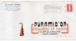 1992--flamme PLOUZANE-29 (tradition,recherche,avenir)-blason--tp  Marianne Du Bicentenaire 2.50F- - Postmark Collection (Covers)