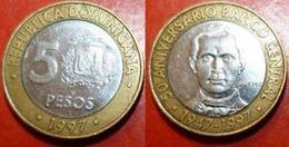 REPUBLIQUE DOMINICAINE - REPUBLIC DOMINICANA - 5 PESOS (1997) - Dominicana