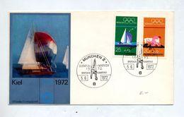 Lettre Fdc 1972 Jeu Olympique - [7] République Fédérale