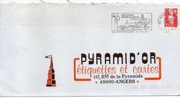 1991--flamme MONTMORILLON-86-Climat,Monuments Romans--tp Adhésif Marianne Du Bicentenaire Rouge D-personnalisée Au Dos - Postmark Collection (Covers)