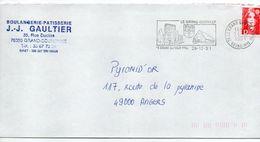 1991-flamme LE GRAND QUEVILLY-76-Monuments-blason(lion,coquille)-tp Adhésif Marianne Bicentenaire Rouge D-personnalisée - Postmark Collection (Covers)