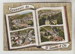 CPSM SAINT GENIEZ D'OLT (Aveyron) - Souvenir De.......4 Vues - France
