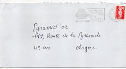 1991-flamme LA COQUILLE-24-Cité D'accueil En Périgord  (couronne,coquille)-tp Adhésif Marianne Bicentenaire Rouge 2.50F - Postmark Collection (Covers)