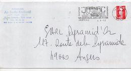 1992-flamme JARNAC-16-Tourisme Fluvial-Un Certain Art De Vivre-tp Adhésif Marianne Bicentenaire Rouge 2.50F-personnalisé - Postmark Collection (Covers)