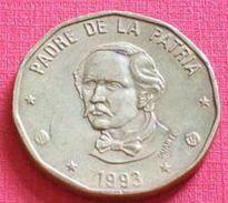 REPUBLIQUE DOMINICAINE - REPUBLIC DOMINICANA - 1 PESOS (1993) - Dominicana