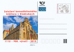 Tschech. Rep. / Ganzsachen (Pre2015/02) Gründung Des Benediktinerklosters In Kladruby (1115) 900. Jahrestag - Klöster