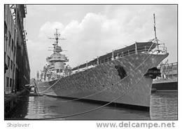 Cuirassé JEAN BART (Marine Nationale) à New York (bateau/navire/ship/schif F) Réf. S00396 - Reproductions