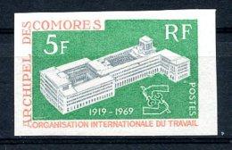 Comoros, Comores, 1969, ILO, International Labour Organization, United Nations, MNH Imperforated, Michel 103 - Comores (1975-...)