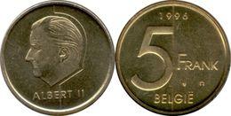 BELGIQUE - BELGIË - 5 FRANK - ALBERT II (1996) - 03. 5 Francs