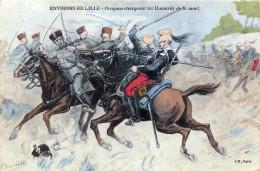 (59) Environs De Lille - Dragons Chargeant Les Hussards De La Mort - Illustration Militaire Militaria Armée - Lille
