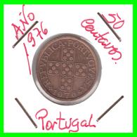 PORTUGAL  MONEDA DE 50 CENTAVOS  AÑO 1976 - Portugal