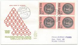 RAGIONERIA GENERALE DELLO STATO - 1969 - FDC VENETIA 285/it - ANNULLO VENEZIA - VIAGGIATA PER RACCOMANDATA - 6. 1946-.. Repubblica