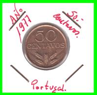 PORTUGAL  MONEDA DE 50 CENTAVOS  AÑO 1977 - Portugal