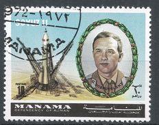 Manama. #K (U) G. Dobrovolsky, Soyuz II, Satellite - Manama