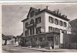 Cpa 2 Scans Véritable Photographie  Hotel St Saint Bernard Martigny Gare - VS Valais