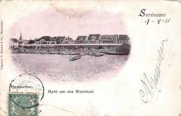 Surinam Suriname - Markt Aan Den Waterkant 1911 - Surinam