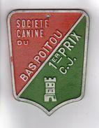 PLAQUE DE CONCOURS CANIN SOCIETE CANINE DU BAS-POITOU 1er PRIX C. J. - Autres Collections