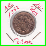 PORTUGAL  MONEDA DE 10  REIS  AÑO 1892  CARLOS I REI DE PORTUGAL - Portugal