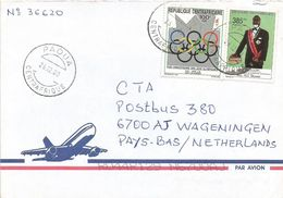 Centrafrique RCA CAR 2000 Paoua President Patasse 385f Olympic Games Atalanta Cover - Centraal-Afrikaanse Republiek