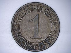 ALLEMAGNE  1 REICHSPFENNIG 1929 A - [ 3] 1918-1933 : Weimar Republic