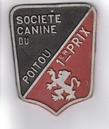 PLAQUE DE CONCOURS CANIN  SOCIETE CANINE DU POITOU 1er PRIX - Autres Collections