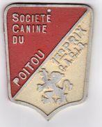 PLAQUE DE CONCOURS CANIN  SOCIETE CANINE DU POITOU 1er PRIX C.A.C.I.B. - Autres Collections