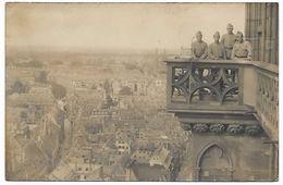 Carte Photo - Militaires Sur Balcon Cathédrale à Situer - Bâtiment CROIX ROUGE - Militaria