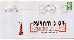 1991-flamme NIORT-79-..et Sa Région-Tourisme Vert  Tp  Marianne Bicentenaire Vert 2.20F--personnalisée - Postmark Collection (Covers)