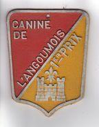 PLAQUE DE CONCOURS CANIN  CANINE DE L'ANGOUMOIS 1er PRIX - Autres Collections