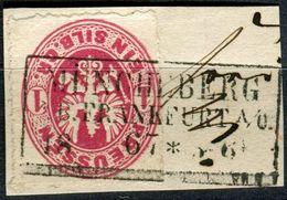 Pr R3 MÜNCHEBERG R.B. FRANKFURT A/O. 18 .. 67 * 5-6 Auf 1 Sgr Preußischer Adler Im Oval (2-15) - Preussen