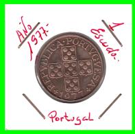 PORTUGAL  MONEDA DE  1 ESCUDO    AÑO 1977 - Portugal