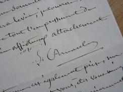 Lucien ARNAULT (1787-1863) Préfet EMPIRE Valence Drôme. Dramaturge. AUTOGRAPHE - Autographes