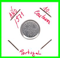 PORTUGAL  MONEDA DE  10 CENTIMOS    AÑO 1971  ALUMINIO - Portugal