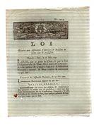 LOI Relative Aux Assemblées D'ouvriers & Artisans De Même état & Profession.17 Juin 1791.CARON Imp.AMIENS.4 Pages - Documents Historiques