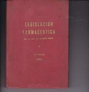 LEGISLACION FARMACEUTICA. COLEGIO FARMACEUTICOS DE LA PROVINCIA DE BUENOS AIRES. 1963, 268 PAG. - BLEUP - Biografieën