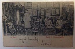 AK   TURKEY  CONSTANTINOPLE  AU BAZAR  1902 - Turquia