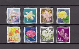 Japan 2014 - Omotenashi Flowers 1, 52 & 82 Yen, Used Stamps, Michelnr. 6727-34 - Gebruikt