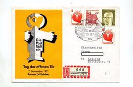 Lettre  Cachet Koblenz Porte Ouverte Poste - [7] Federal Republic