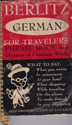 BERLITZ, GERMAN, FOR TRAVELERS, PHRASE BOOK. 1954, 182 PAG. GROSSET & DUNLAP - BLEUP - Ouvrages Linguistiques