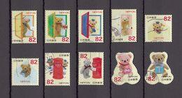 Japan 2014 - Greetings Autumn 82 Yen, Used Stamps, Michelnr. 6962-71 - Gebruikt