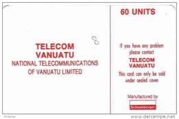 Vanuatu (ex Hebrides) Telecarte Phonecard TVL Telecom  60 Unités SC5 Numero Embouti, TBE - Vanuatu