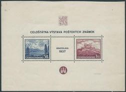 STAMPS - Czechoslovakia - CECOSLOVACCHIA - BRATISLAVA  1937 - Very Beautiful Block - Cecoslovacchia