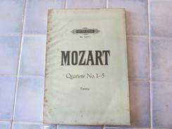 Mozart Quartette N° 1-5 Edt Peters N° 1037 - Classical