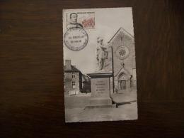 Carte Postale Ancienne De Broons:Statue De Duguesclin- Carte Premier Jour, Timbre Duguesclin - Otros Municipios